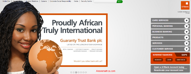 Guaranty Trust Bank Plc - biggest banks in Nigeria