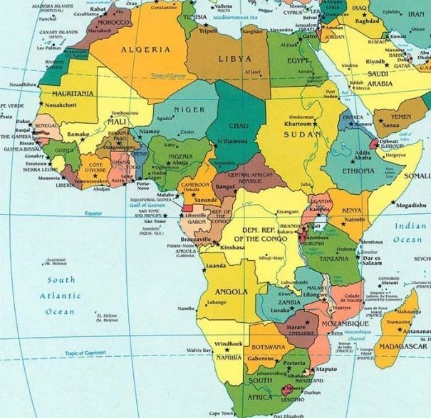 List of African Countries and Capitals | Maps of Africa ...