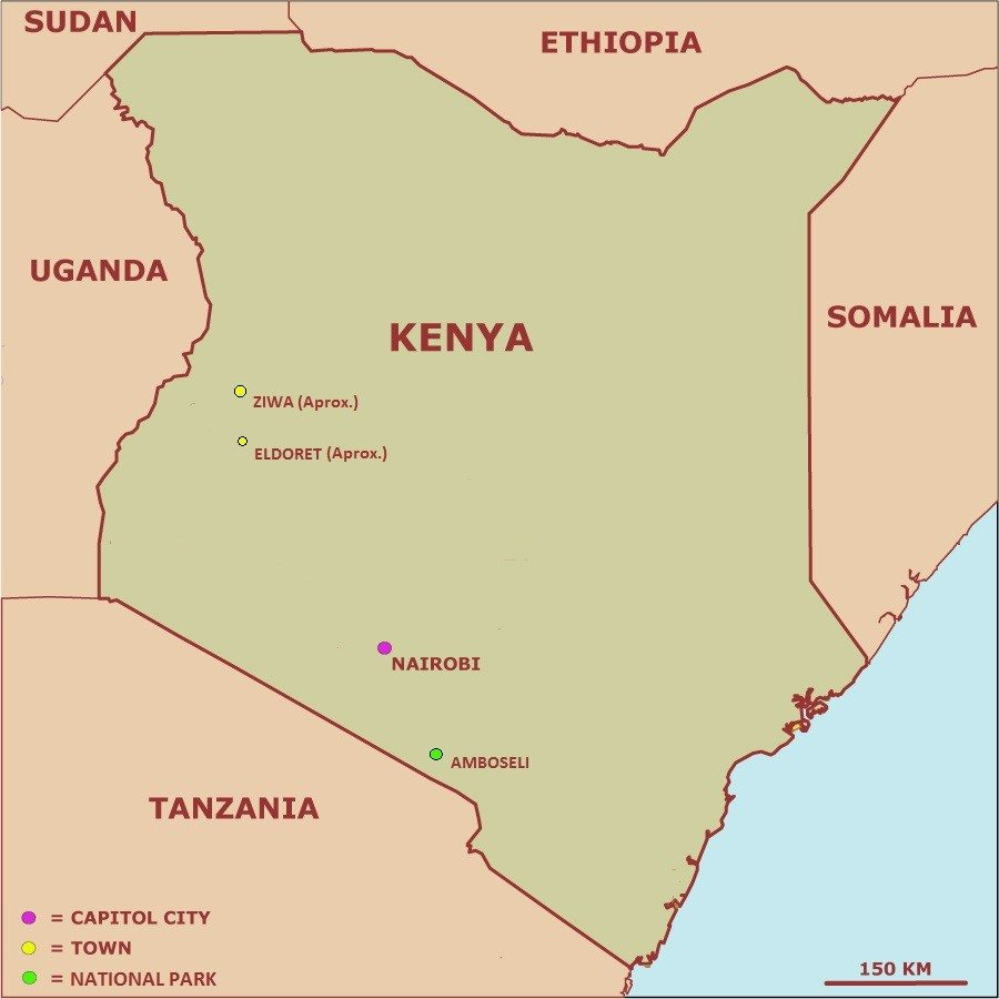 Kenyan map - 10 Most Beautiful Maps of African Countries