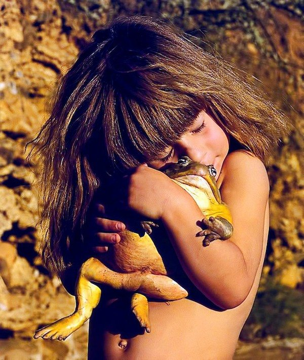 Girl with wild animals 4