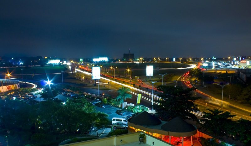 accra african cities at night