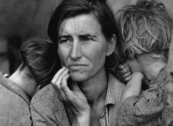 Dorothea lange black and white photography