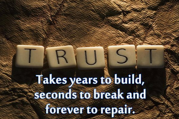 2 ways secrets destroy trust relationship