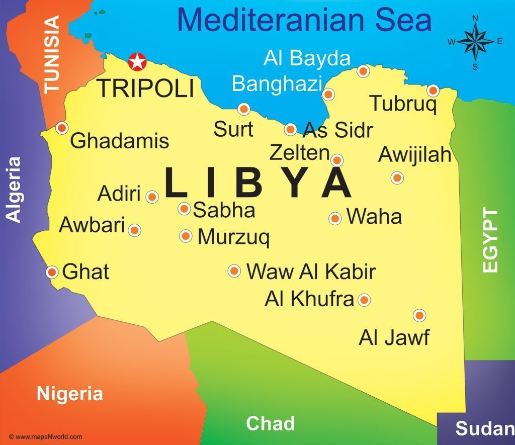 Libya - Most Beautiful Maps of African Countries