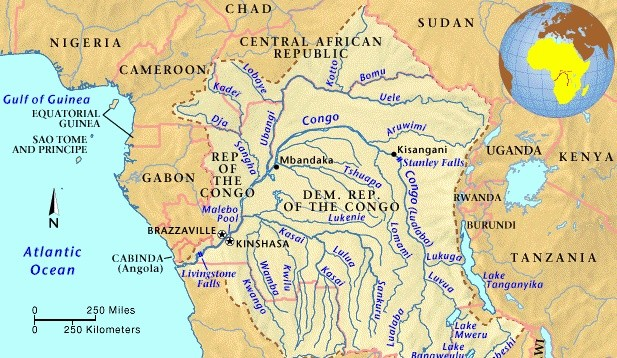 Map Of Congo River Congo River   Map, Location, Depth, Animals, Quick Facts