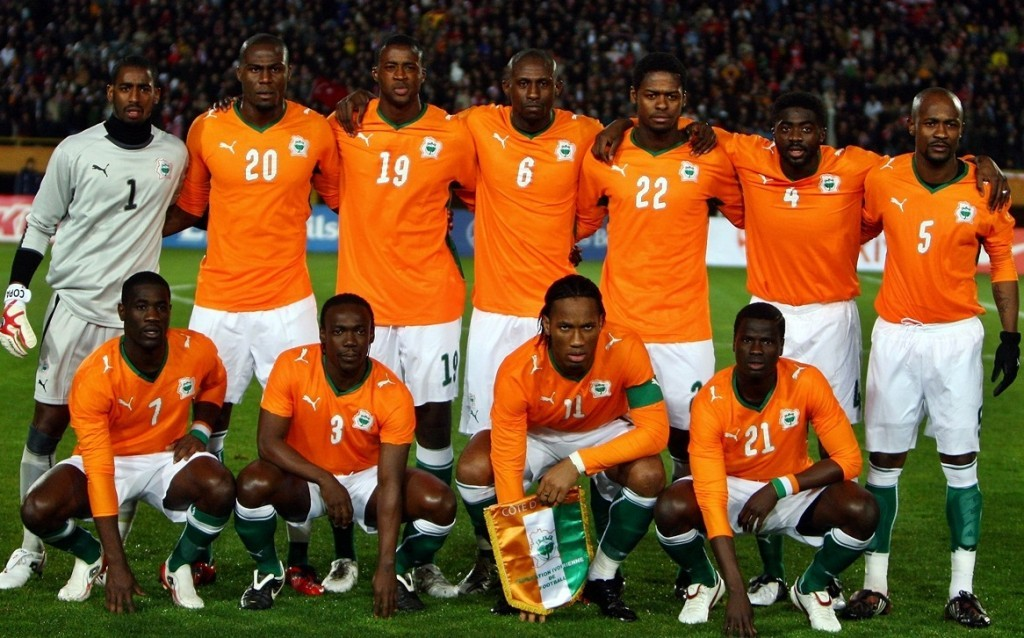 IZMIR, TURKEY - FEBRUARY 11: The Ivory Coast team pose for a group photo during the International Friendly match between Turkey and the Ivory Coast at the Izmir Ataturk Stadium on February 11, 2009 in Izmir, Turkey. (Photo by Jamie McDonald/Getty Images)