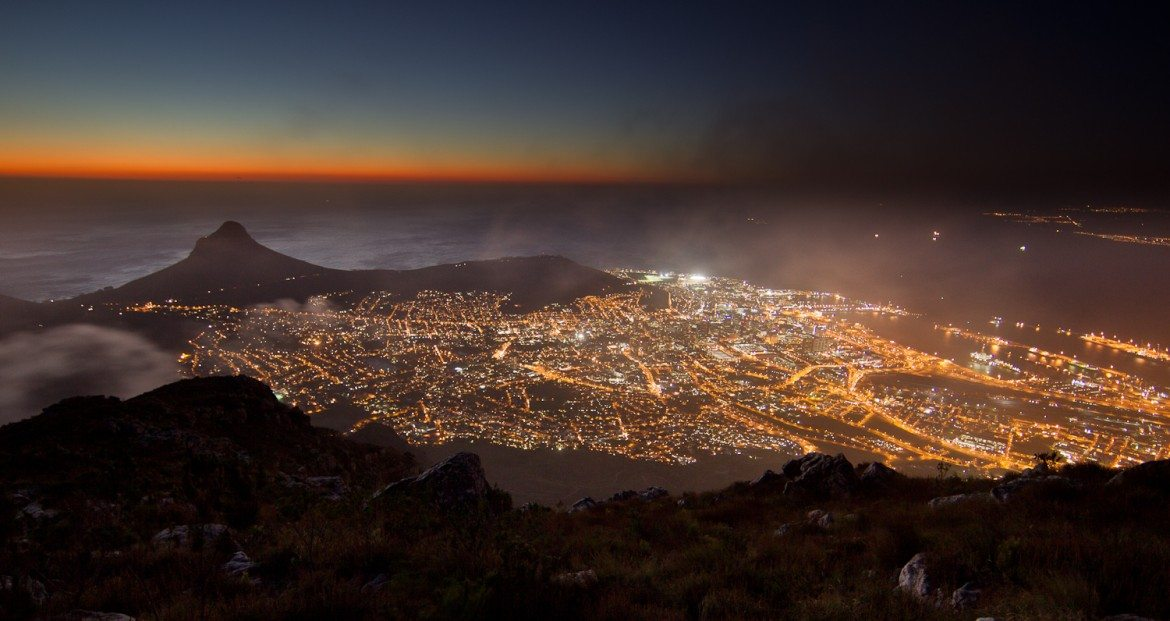capetown african cities at night