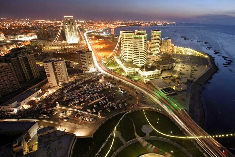 tripoli african cities at night