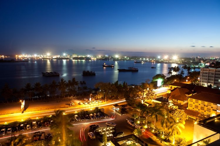 dar es salaam african cities at night