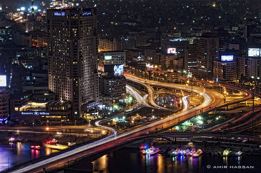 cairo african cities at night