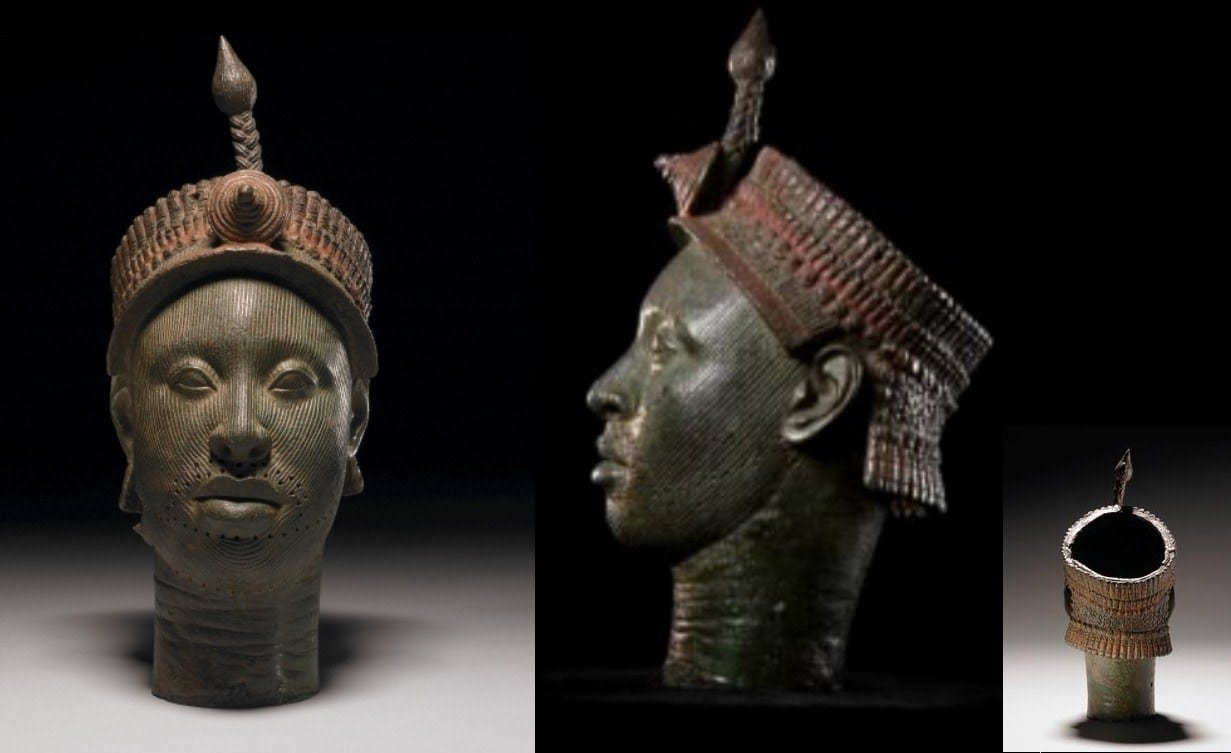 An Ife bronze head