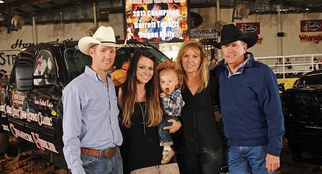 George Strait and his family