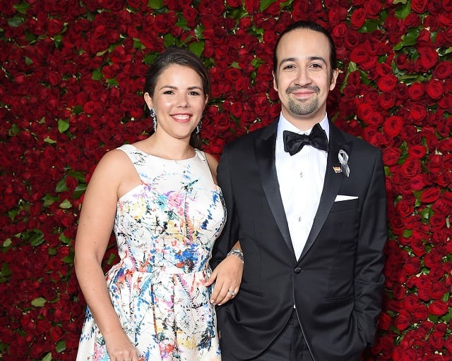 Lin-Manuel Miranda and wife