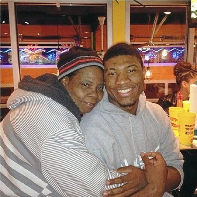 Marcus Smart and mother