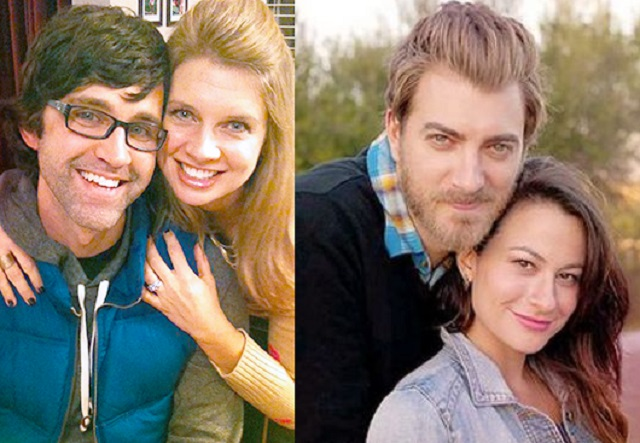 Rhett and Link with their wives