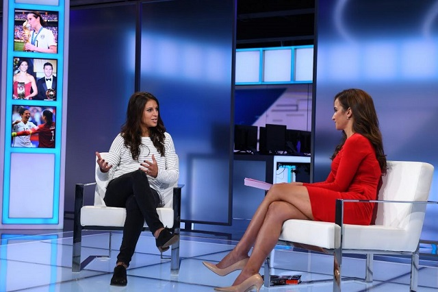 Dianna Russini and Carli Lloyd