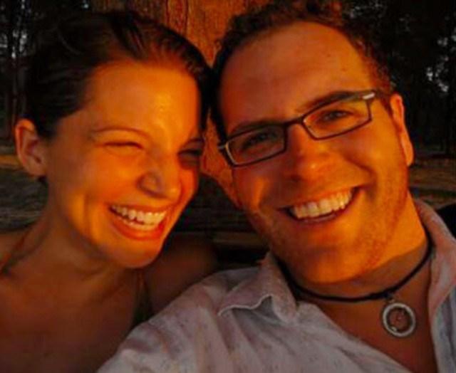 Hallie Gnatovich and husband Josh Gates