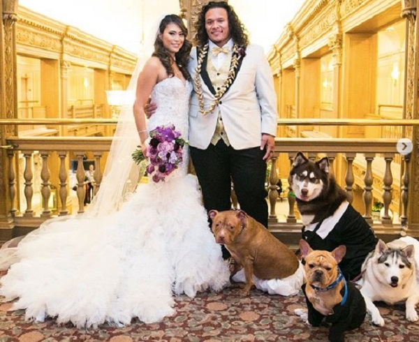 Danny Shelton and wife Mara