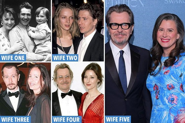 Gary Oldman's wives