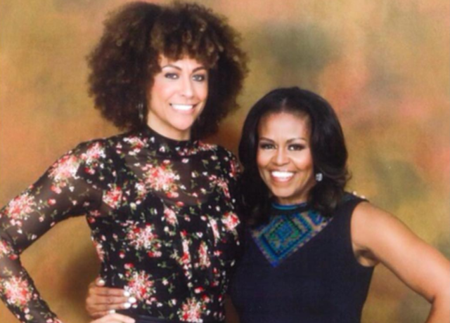 Alicia Jay and Michelle Obama