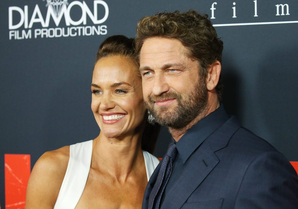 Morgan Brown and Gerard Butler