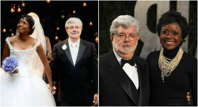 George Lucas and wife Mellody Hobson