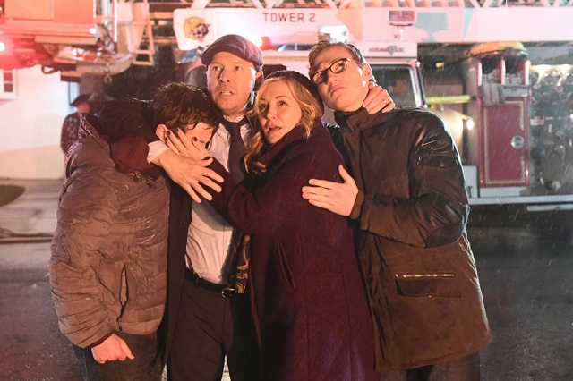 Amy Carlson (Linda Reagan) and family on Blue Bloods
