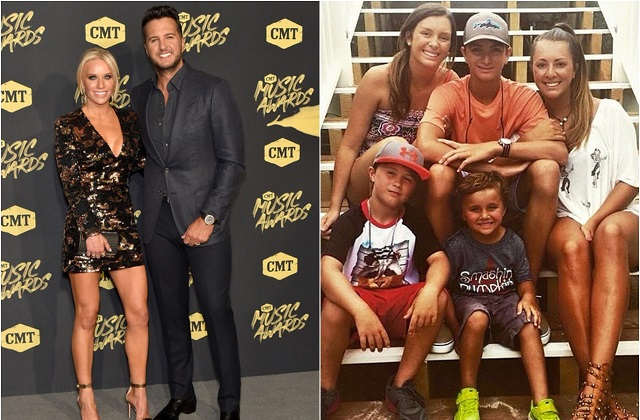 Caroline Boyer and Luke Bryan family