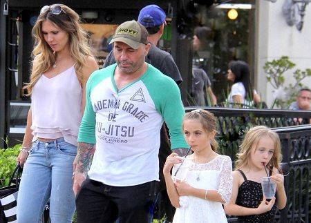 Jessica Ditzel, her husband, Joe Rogan and their two little girls, Lola and Rose.