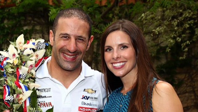 Lauren Bohlander and Tony Kanaan