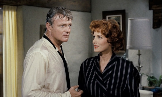 Maureen O'Hara and Brian Keith in The Parent Trap (1961)