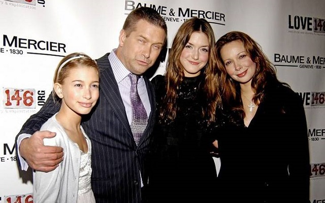 Hailey Bieber, Kennya Baldwin, and Stephen Baldwin