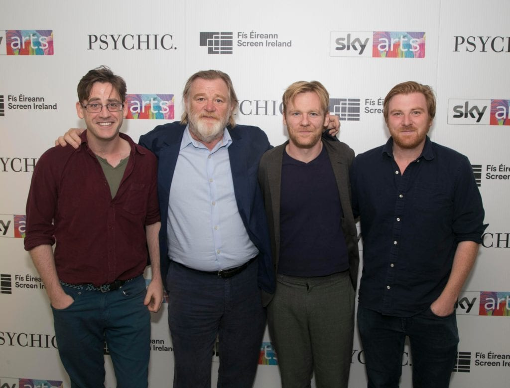 Brendan Gleeson with sons, from left, Fergus, Brian and Rory