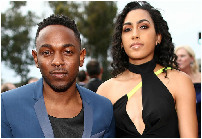 Whitney Alford and Kendrick Lamar