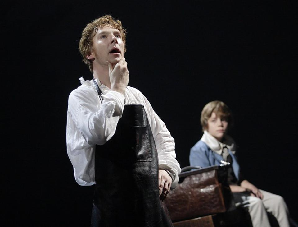 Benedict Cumberbatch as Frankenstein at the National Theatre