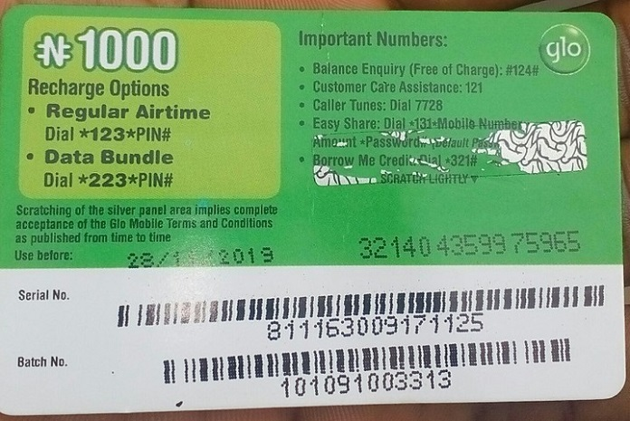 how to load a Glo Card