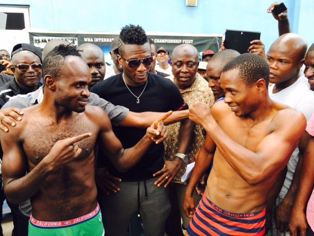 Asamoah Gyan promoting a bout between Tagoe and Momba