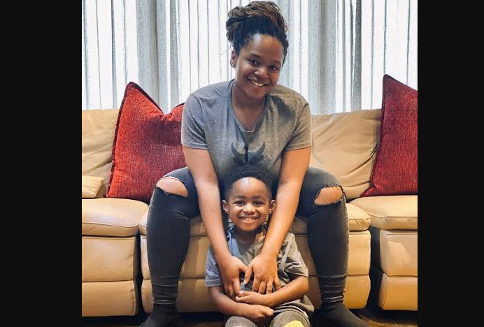 lesedi and her son Rowena