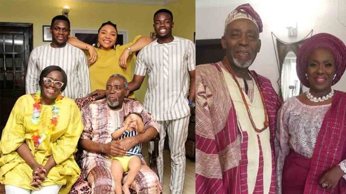 Olu Jacobs Children and wife